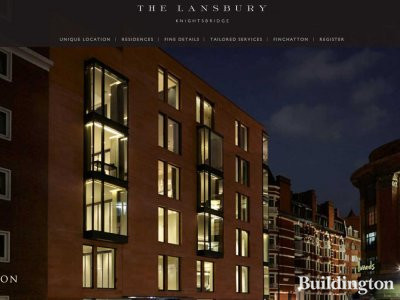 Screen capture of The Lansbury website at thelansbury.co.uk in March 2013