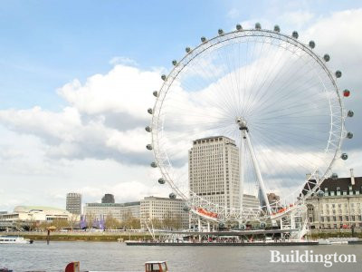 Southbank Place development site - Shell Centre and London Eye in 2012