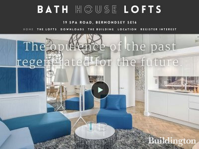 Screen capture of Bath House Lofts website at bathhouselofts.com.