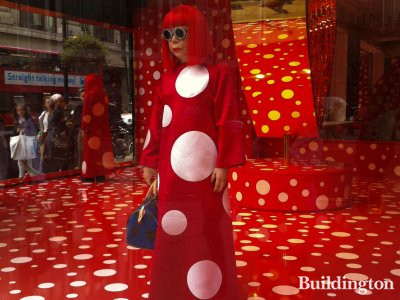 Yayoi Kusama on Selfridges window