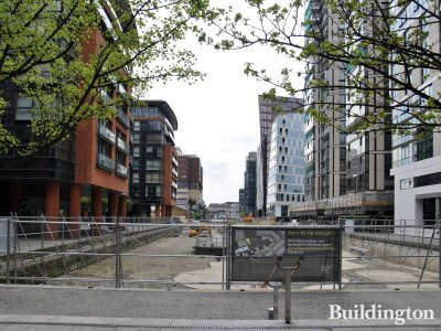 Paddington Basin in April 2014