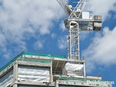 British Land crane at Marble Arch House development in June 2013.