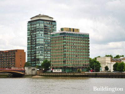 View to the former Riverwalk House from Thames.