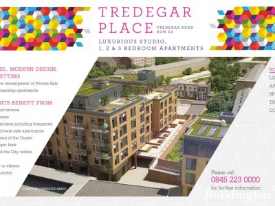 Screen capture of Tredegar Place website at www.tredegarplace.co.uk