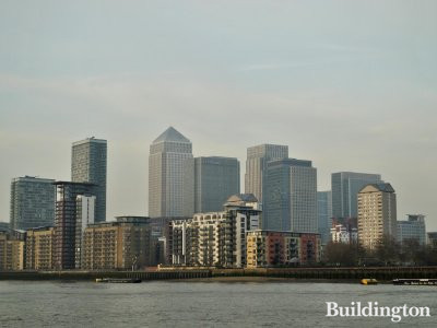 One Canada Square and Canary Wharf.