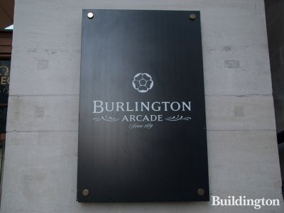 Burlington Arcade nameplate