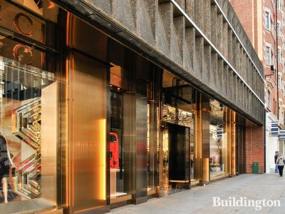 Gucci store on the ground floor at 18 Sloane Street in London SW1.