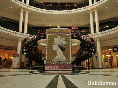 World's largest stamp portrait by Peter Mason in Whiteleys.