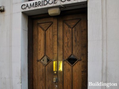 Cambridge Court door.