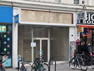 42 Queensway shop front. The shop is available to let in February 2013.