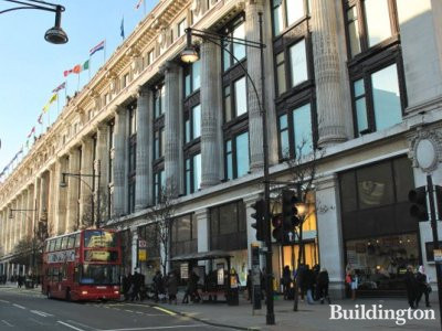 Selfridges Oxford Street W1a 1ab Buildington