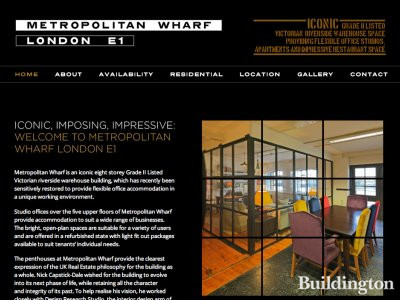 Screen capture of Metropolitan Wharf website at www.metropolitanwharf.com