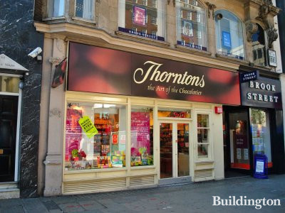 Thorntons chocolate shop at 353 Oxford Street in June 2011