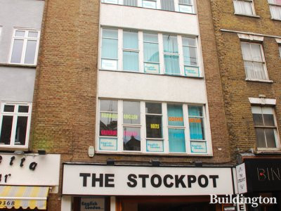 The Stockpot at 18 Old Compton Street in Soho, London