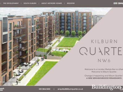 Screen capture of Kilburn Quarter website after the launch in June 2016.