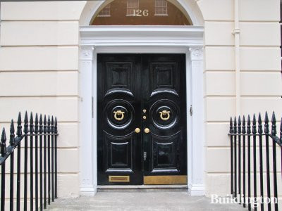Entrance to 126 Harley Street.
