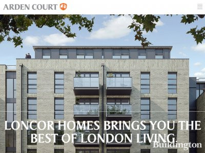 Screen capture of Arden Court website at www.ardencourtse1.com