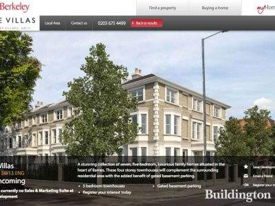 The Villas development on Berkeley website in 2016