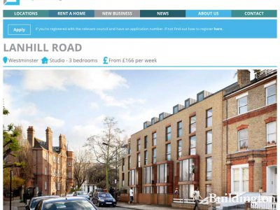 Lanhill Road development on Dolphin Square Foundation website