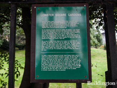 Short history of Leinster Square gardens. Click on the image to enlarge.