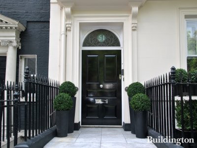 Entrance to 51 Berkeley Square.