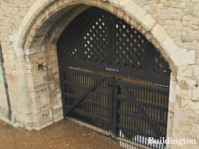 Watergate or Traitors Gate through which it was customary to convey traitors and other state prisoners to or from the Tower perhaps for greater privacy. - David Henry, An historical description of the Tower of London and its curiosities.