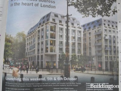190 Strand ad in Homes & Property, Evening Standard (2. October 2013).
