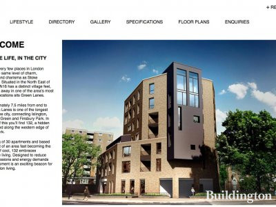 Screen capture of 123 Green Lanes development website in 2016