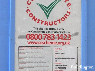 6 Bevis Marks Considerate Construction Scheme