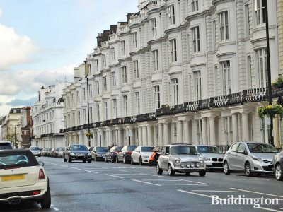 Four storey terraced houses on Gloucester Terrace