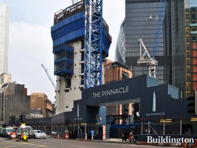 View to The Pinnacle development from Bishopsgate.