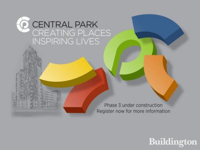 Central Park website in September 2014 - Phase 3 under construction - register now for more information at www.centralparkliving.co.uk
