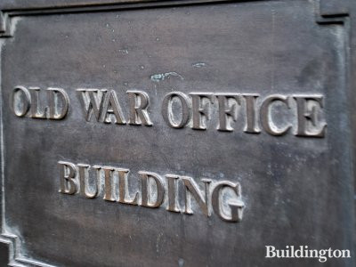 Old War Office Building nameboard.