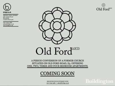 Screen capture of the Chapel Ford Lofts website at www.oldfordlofts.co.uk in February 2013. The development was initially called Old Ford Lofts.
