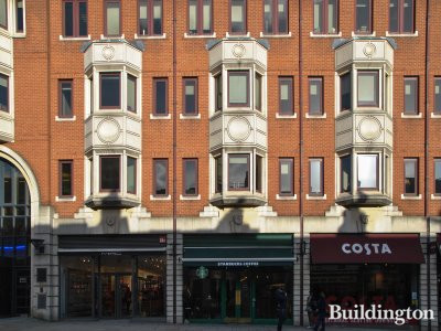 Starbucks and Costa at 28 Kensington Church Street in 2014.