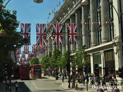 Selfridges during the Queen's Diamond Jubilee celebrations.