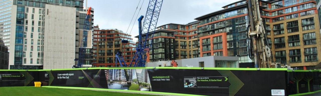 Construction in Paddington Basin.