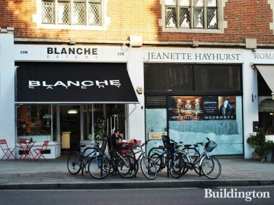 Blanche Bakery and Burlingtons dry cleaners on the ground floor.