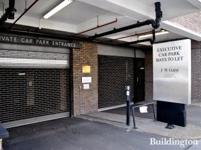 Private car parking in Kensington Heights in April 2014. Executive car park bays to let, F W Gapp.