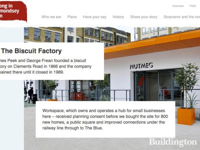 BelonginBermondsey.com introduces Biscuit Factory plans