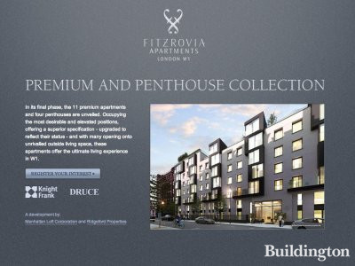 Screen capture of Fitzrovia Apartments website at www.fitzroviaapartments.co.uk in November 2012