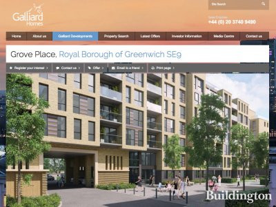 Screen capture of Grove Place development in London SE9