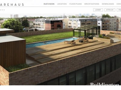 Screen capture of Warehaus development in London E8