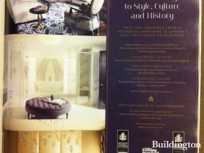 Walpole Mayfair advertisement in FT's How To Spend It