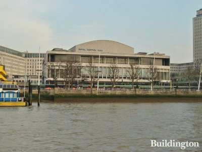 Royal Festival Hall - View from the river.