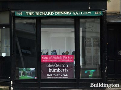 Former Richard Dennis Gallery premises to let by Chesterton Humberts in April 2013