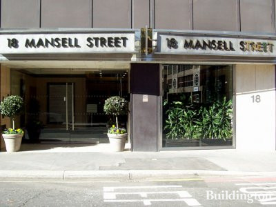 18 Mansell Street building entrance.