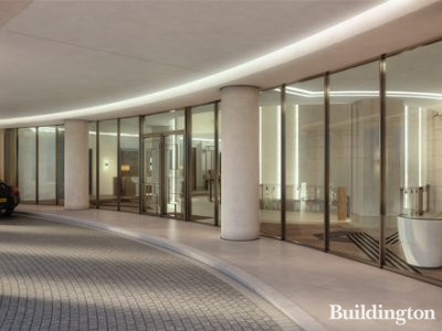 Clarges Mayfair driveway CGI