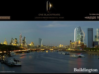 Screen capture of One Blackfriars website at www.oneblackfriars.co.uk