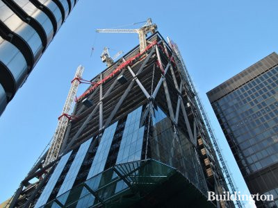 Lloyds Building, Leadenhall Building and St Helen's in December 2012